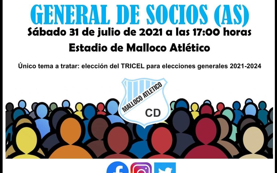 Asamblea de socios para Elecciones del TRICEL